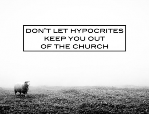 Don't let hypocrites keep you out of the church